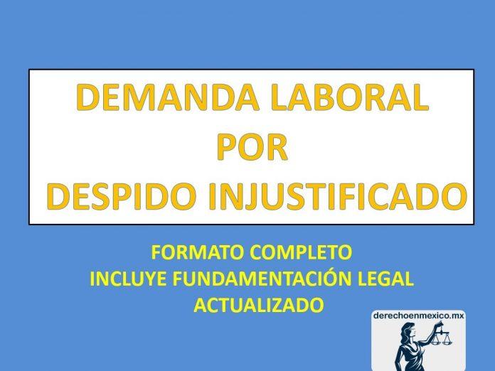 Demanda laboral por despido injustificado