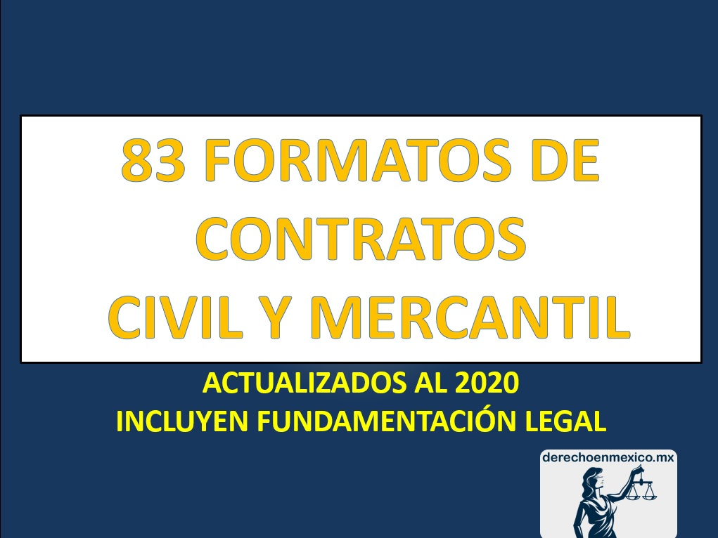 83 FORMATOS DE CONTRATOS CIVIL Y MERCANTIL