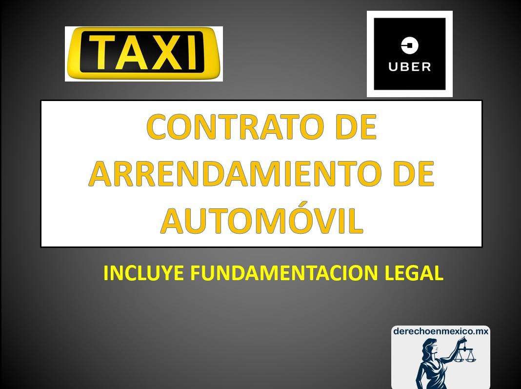 9d4283694e61 CONTRATO DE ARRENDAMIENTO DE AUTOMÓVIL - derechoenmexico.mx