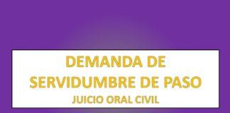 DEMANDA DE SERVIDUMBRE DE PASO