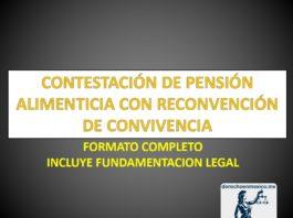 CONTESTACIÓN DE PENSIÓN ALIMENTICIA CON RECONVENCIÓN DE CONVIVENCIA