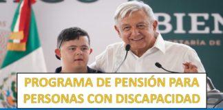PROGRAMA DE PENSIÓN PARA PERSONAS CON DISCAPACIDAD