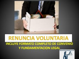 RENUNCIA VOLUNTARIA