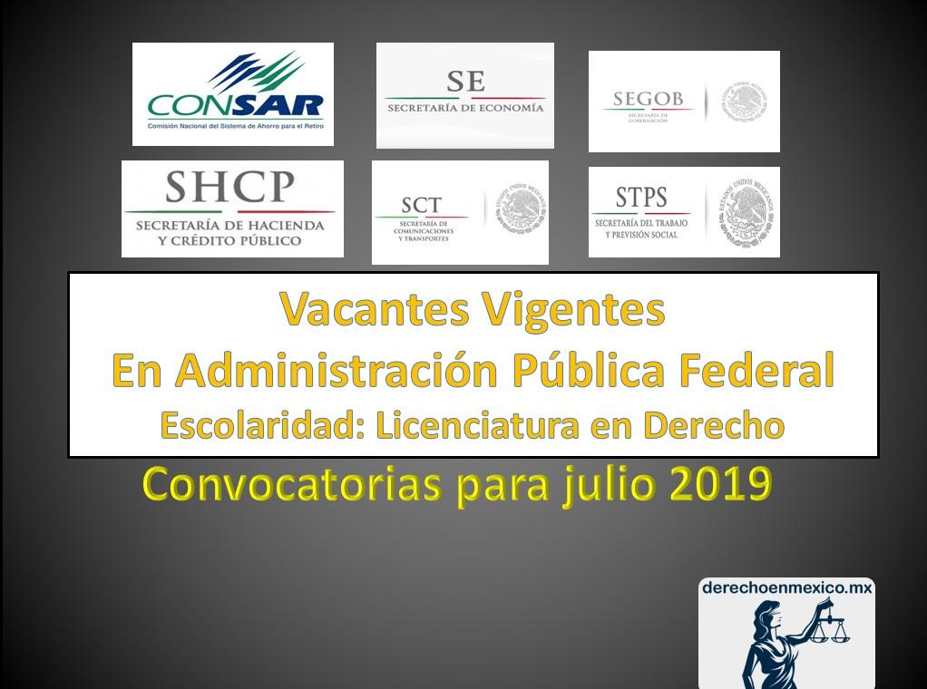 Vacantes en la Administración Pública Federal