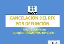 CANCELACIÓN DEL RFC POR DEFUNCIÓN