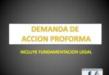 DEMANDA DE ACCION PROFORMA