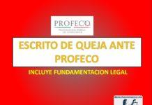 ESCRITO DE QUEJA ANTE PROFECO