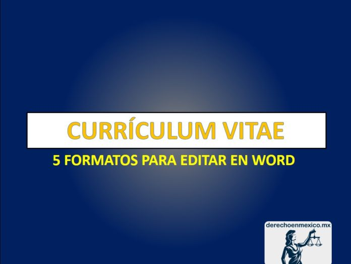 5 formatos de CURRICULUM VITAE en word listos para editarse