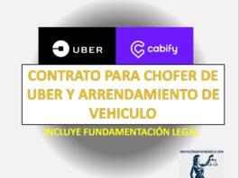 CONTRATO PARA CHOFER DE UBER Y ARRENDAMIENTO DE VEHÍCULO