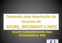 Demanda para devolución de recursos de AFORE, INFONAVIT e IMSS