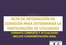 ACTA DE INTEGRACIÓN DE COMISIÓN PARA DETERMINAR LA PARTICIPACIÓN DE UTILIDADES
