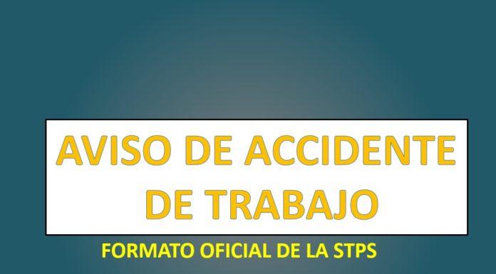 Aviso de accidente de trabajo