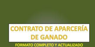 CONTRATO DE APARCERÍA DE GANADO