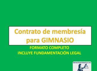 Contrato de membresía para gimnasio y negocios afines
