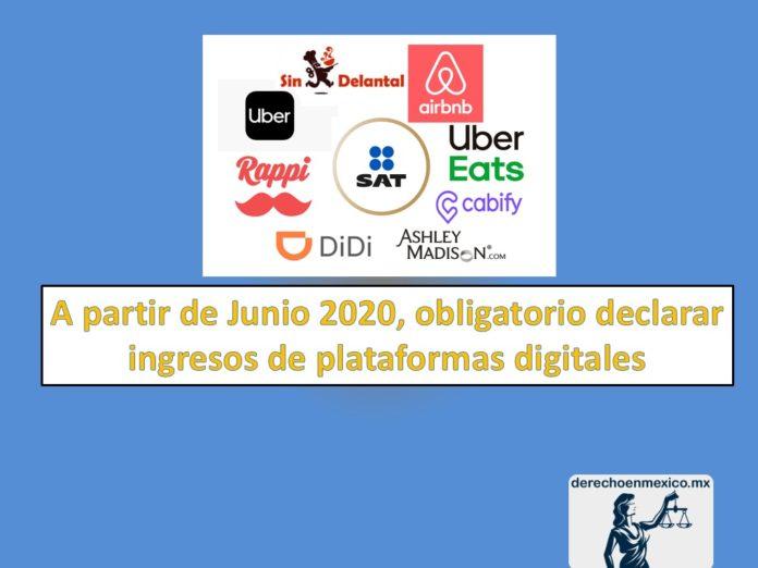obligatorio declarar ingresos de plataformas digitales