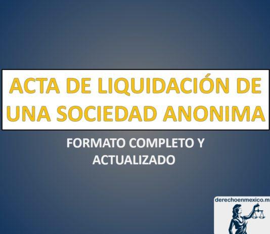 ACTA DE LIQUIDACIÓN DE UNA SOCIEDAD ANONIMA