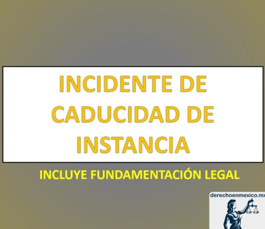 INCIDENTE DE CADUCIDAD DE INSTANCIA