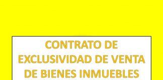 CONTRATO DE EXCLUSIVIDAD DE VENTA DE BIENES INMUEBLES