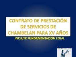 Contrato de prestación de servicios de chambelán para XV años
