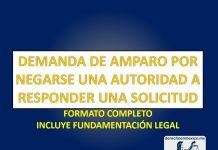 DEMANDA DE AMPARO POR NEGARSE UNA AUTORIDAD A RESPONDER UNA SOLICITUD