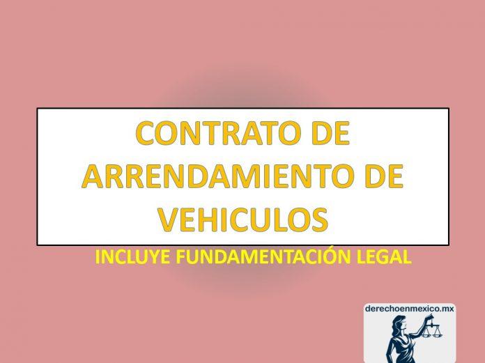 CONTRATO DE ARRENDAMIENTO DE VEHICULOS