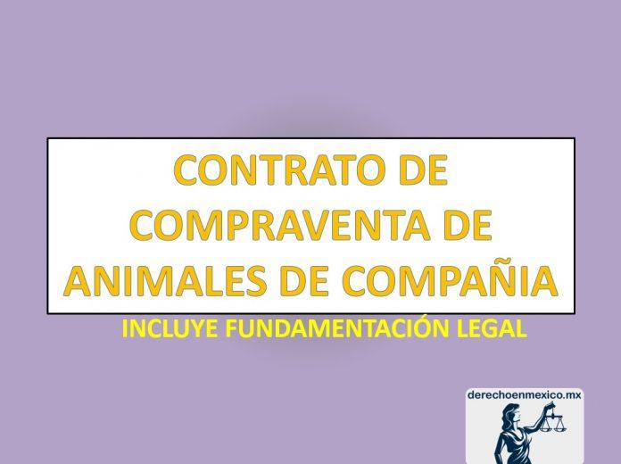 CONTRATO DE COMPRAVENTA DE ANIMALES DE COMPAÑIA