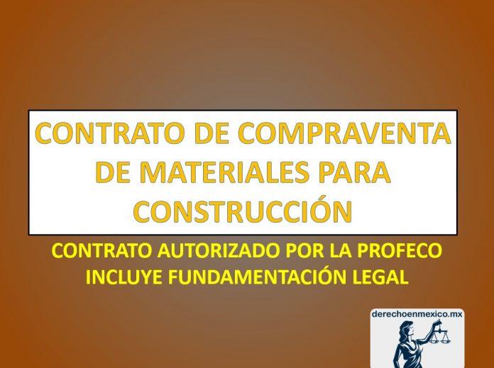 CONTRATO DE COMPRAVENTA DE MATERIALES PARA CONSTRUCCIÓN