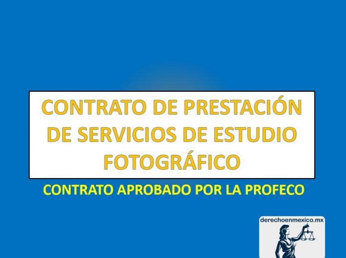 CONTRATO DE PRESTACIÓN DE SERVICIOS DE ESTUDIO FOTOGRÁFICO