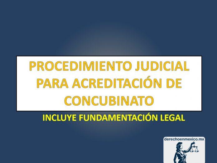 PROCEDIMIENTO JUDICIAL PARA ACREDITACIÓN DE CONCUBINATO