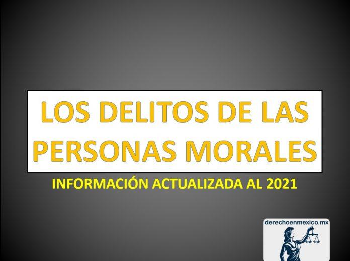 Los delitos de las personas morales o Empresas