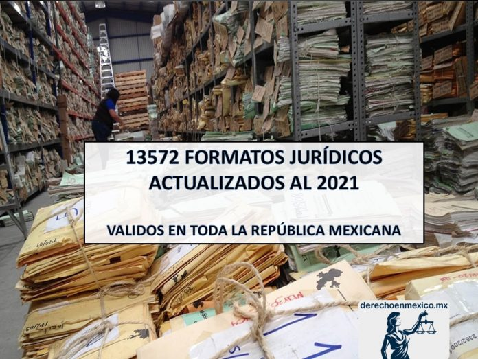 13572 FORMATOS JURÍDICOS ACTUALIZADOS 2021