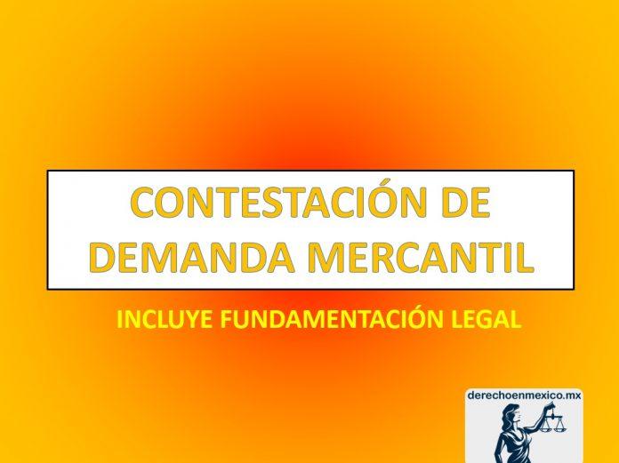 CONTESTACIÓN DE DEMANDA MERCANTIL