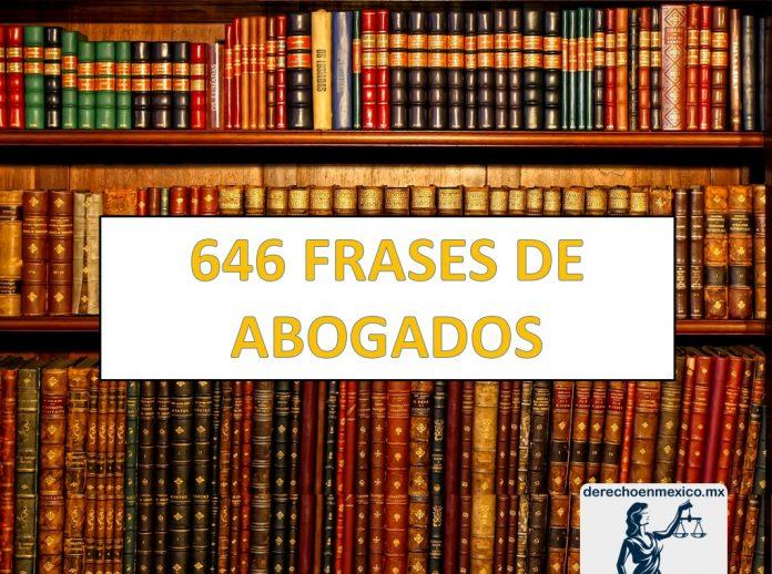 646 frases de abogados