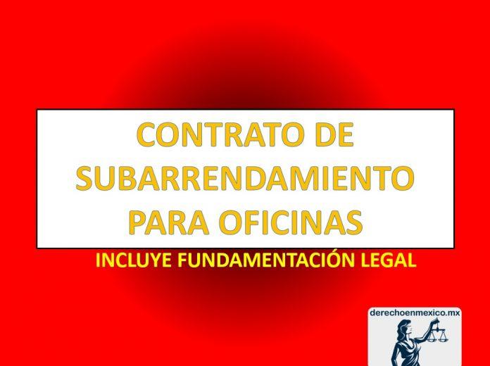 CONTRATO DE SUBARRENDAMIENTO PARA OFICINAS