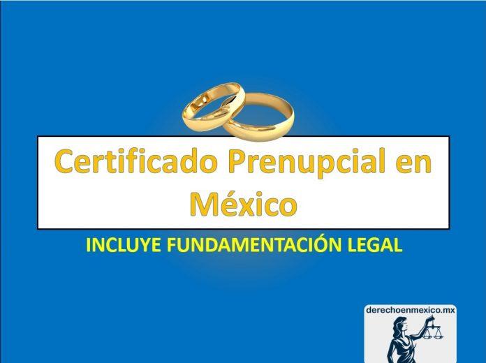Certificado Prenupcial en México