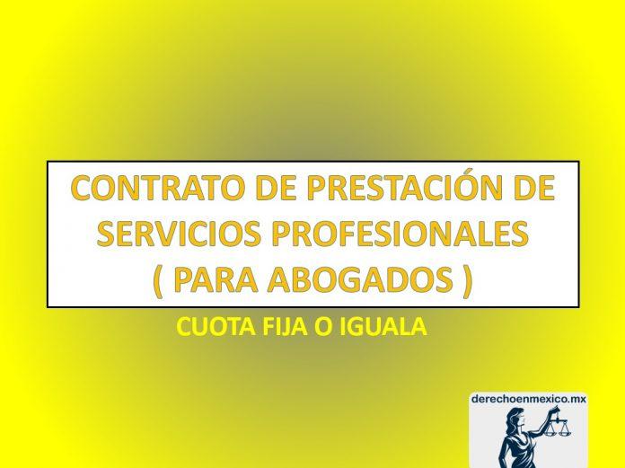 FORMATO DECONTRATO CIVIL DE PRESTACION DE SERVICIOS PROFESIONALES PARA ABOGADOS