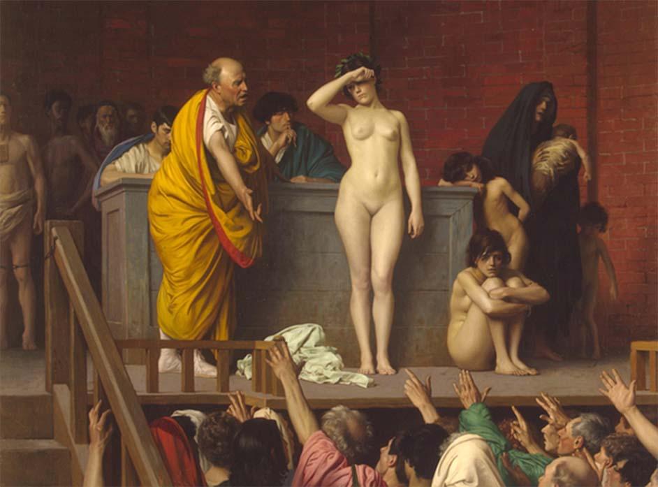 venta de esclavos en Roma